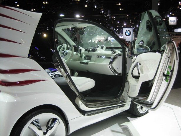 Check out this interior of the smart fortwo Jeremy Scott Special Edition. No expense was spared here.