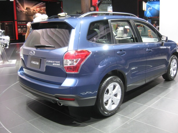 Here's the 2014 Subaru Forester from the rear. Again, no new ground broken here.  I think that Subaru likes the formula for the Forester and is going to stick with it as long as customers keep buying it.
