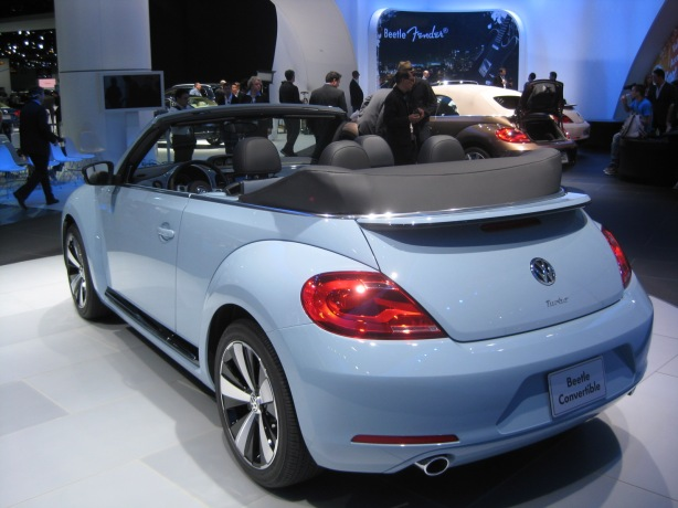 The 2013 VW Beetle Convertible has better rear visibility than the last version. However, the top still doesn't lay perfectly flat.