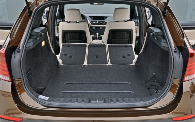 This is the cargo area of the X1 xDrive35i with the seats folded down.  There is plenty of space for most small families , couples or singles.