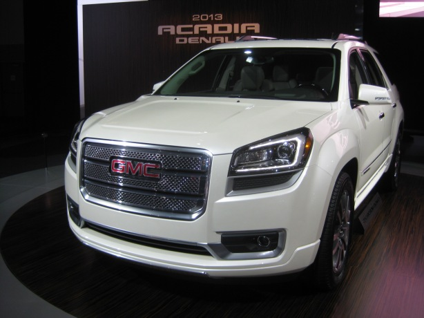 The 2013 Acadia has been updated with a better interior and some styling changes as have the other GM Lambda-based SUVS, the Chevy Traverse and Buick Enclave. The addition of the Denali trim level to the Acadia adds to the sticker price as well as GMC profits.