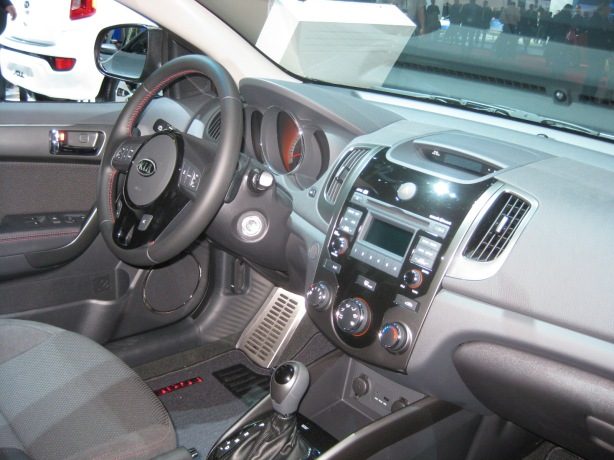 The interior of the 2014 Forte Koup is nearly identical to the 5-door and sedan.