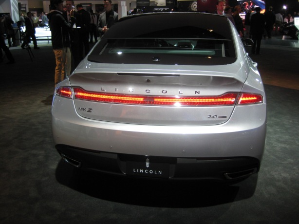The rear of the 2013 MKZ is decidedly better than the front and you can see some Lincoln heritage in the taillights that run the full width of the rear.