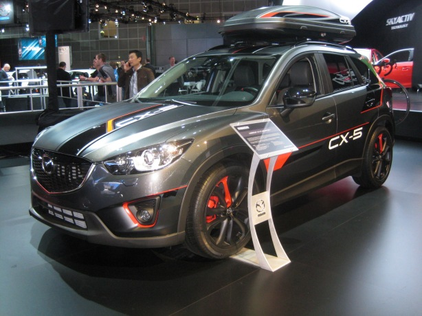 A 2013 Mazda CX-5 custom built for Patrick Dempsey.