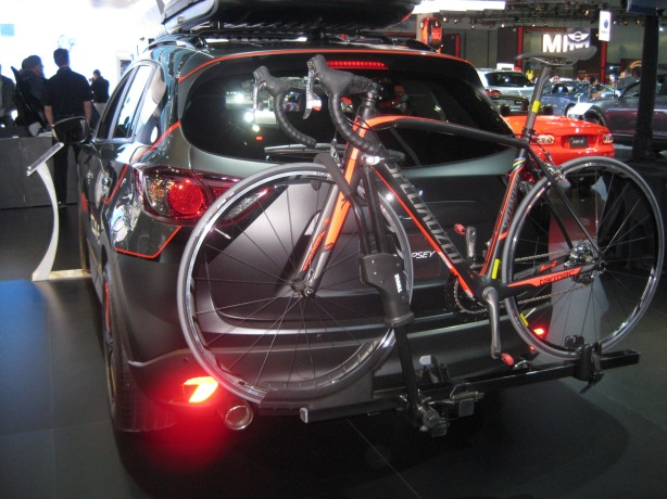 Nice custom bike rack for Mr. Dempsey's 2013 CX-5.