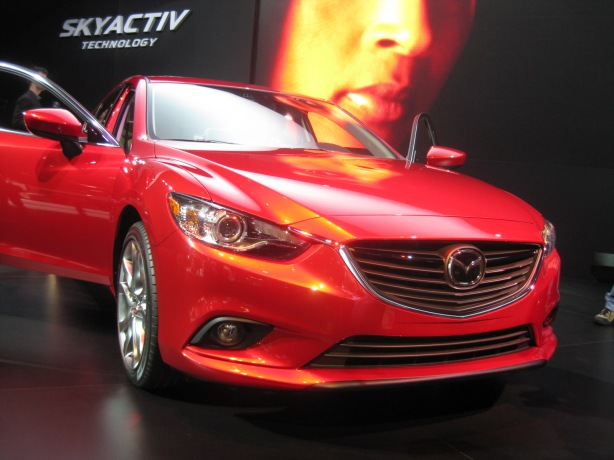 I can't resist another picture of the 2014 Mazda6 SkyActiv-D. It's a diesel and it's really coming to the US market!
