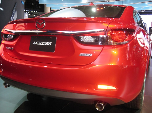 Here's a closer look at the SkyActiv-D badge on this 2014 Mazda6.