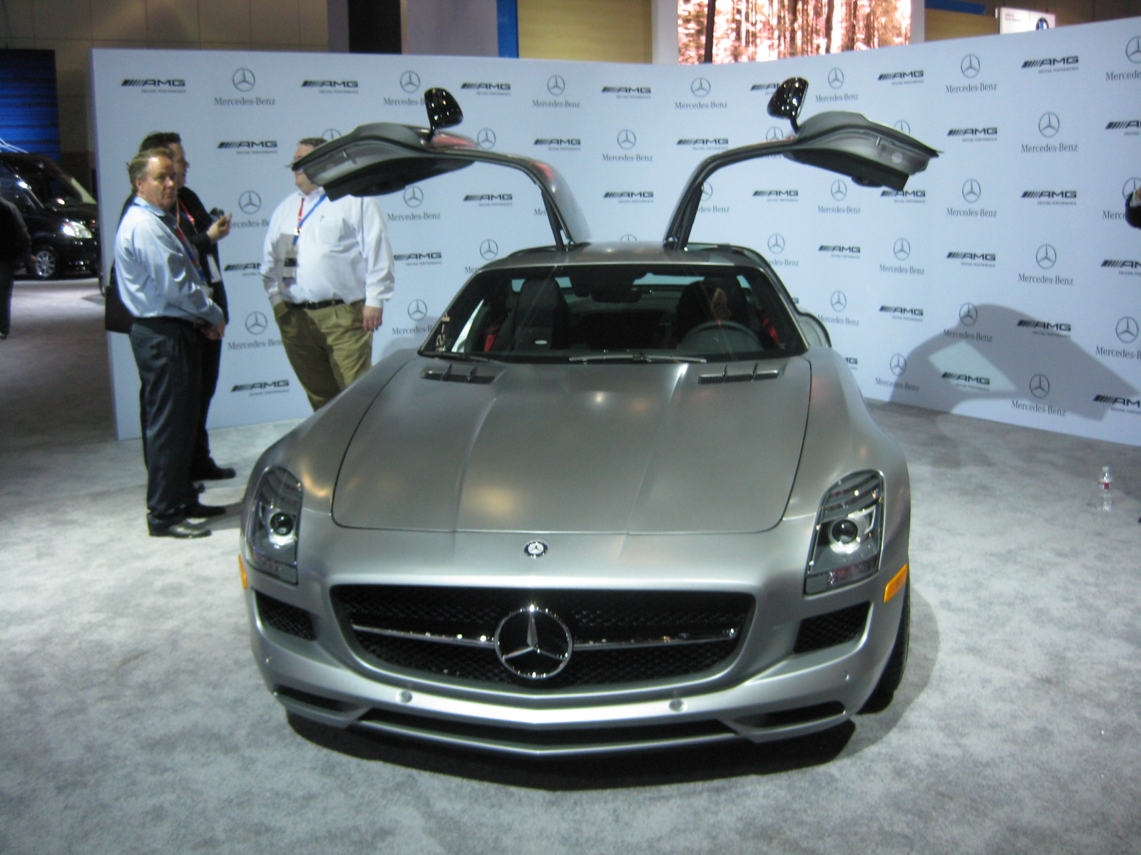 2012 Los Angeles Auto Show Part 4 » Mercedes u2013 2013 SLS AMG front doors up & Mercedes u2013 2013 SLS AMG front doors up | Todd Biancou0027s ...