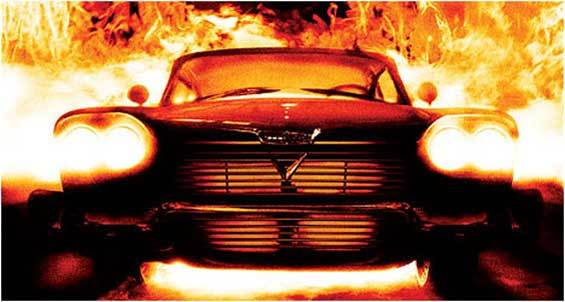 The 1958 Plymouth Fury from Christine was fire from hell.