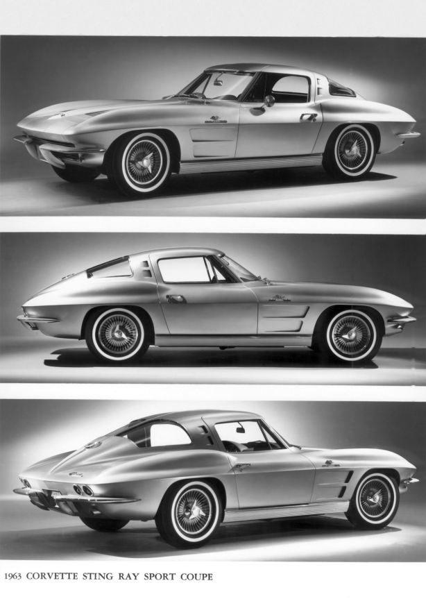 More press pictures of the stunning 1963 Chevrolet Corvette Stingray Sport Coupe.