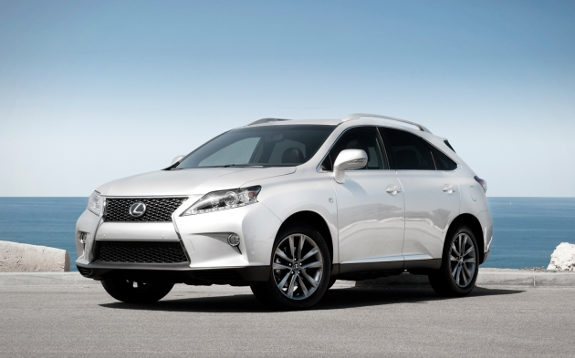 The Lexus RX350 is forever popular in Los Angeles. This one is the F-Sport model with some subtle changes to the grille and body cladding.