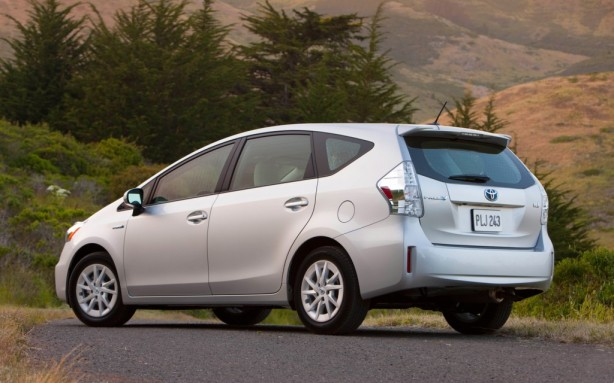 "The 2013 Toyota Prius v (""v"" for versatility) has more cargo capacity and a wagon-like tailgate."