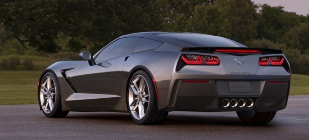 The rear of the 2014 Chevrolet Corvette Stingray is as dramatic as the front. It's the first Corvette since 1963 that doesn't feature two round taillights on each side.