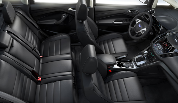 The compact interior of the 2013 C-Max will seat five - but that's two adults and three small children.