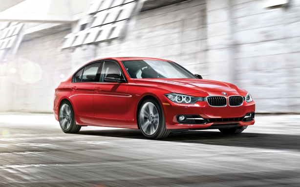 A BMW 328i sedan - the benchmark for all compact sports sedans and the target of the 2013 Cadillac ATS.