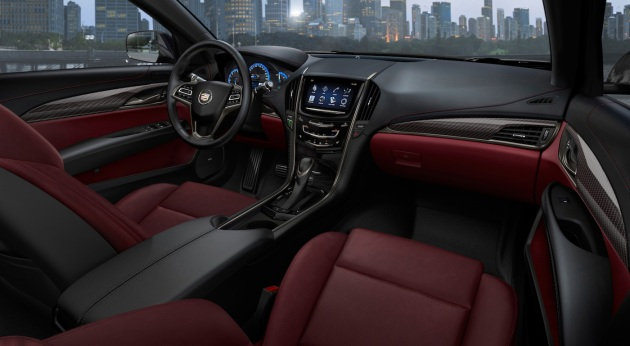 Morello Red leather with Jet Black accents is an optional interior on the ATS