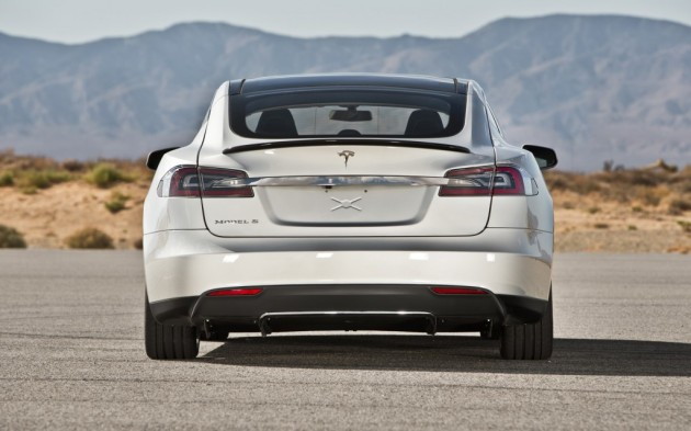 You might see the tail end of the Tesla Model S more often than the front because this car is seriously fast and can easily blow past the most powerful German sedans.