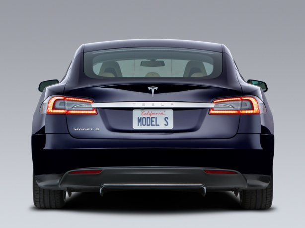 The rear of the Model S is beautifully-balanced, understated and elegant.