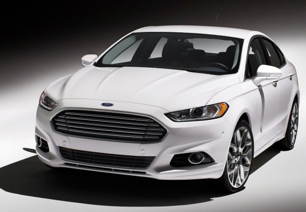 Introduced for the 2013 model year, the Fusion represented a quantum leap forward in styling for mid-size, mid-price family sedans. This is a 2014 Fusion.