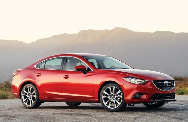 The 2014 Mazda 6 in Soul Red (its signature color, according to Mazda).