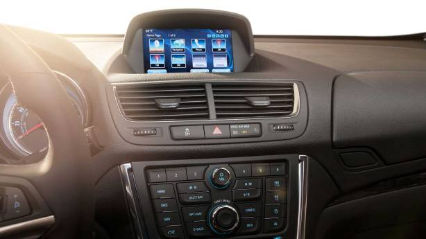 Buick Encore's IntelliLink touch-screen Infotainment system.