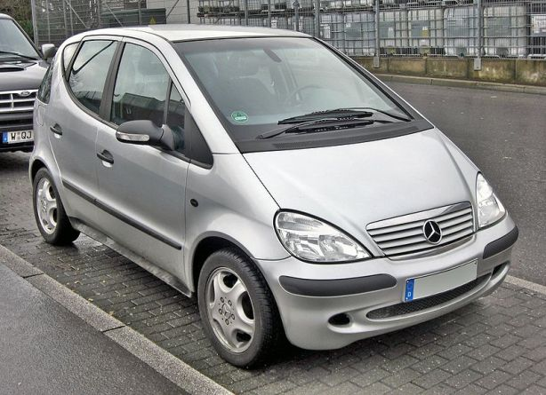 This first generation Mercedes A-Class was only sold in Europe and a few other markets. It was a 5-door hatchback - and not ready for U.S. consumer tastes.