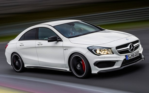 Here's the 2014 CLA45 AMG.  It will have a hand-built 2.0L turbo 4-cylinder engine making 355 hp and 332 lb-ft of torque and will feature the latest version of Mercedes' 4MATIC AWD system.