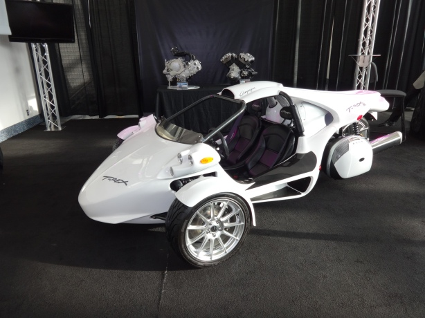 The Campagna T-Rex. These three-wheeled wonders are from Canada and are very expensive - $60 - 70,000. I have it direct from an owner that they are fun beyond belief. Nice toy if you can afford one!