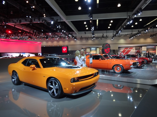 LAAutoShow Day 1 058 Dodge 100 Celebration in Orange
