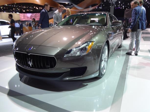 LAAutoShow Day 1 160 Maserati Qattroporte front
