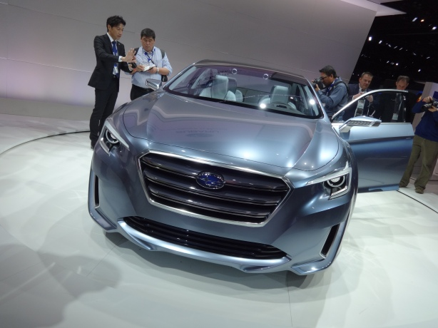 LAAutoShow Day 1 182 Subaru Legacy Concept front