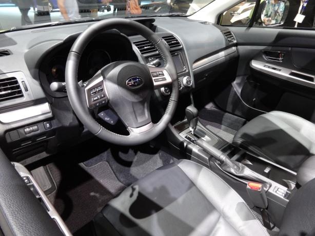 LAAutoShow Day 1 187 2014 Subaru XV Crosstrek Hybrid interior