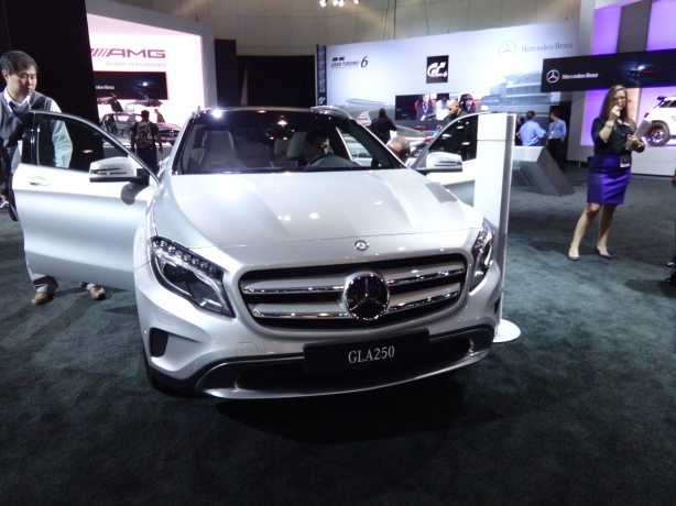 Look what showed up in LA! The 2015 Mercedes-Benz GLA250 Crossover.