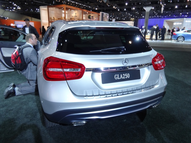 The 2015 GLA250 is meant to do battle with the BMW X1. It almost looks like the X1. But the GLA is small. Maybe too small for some.