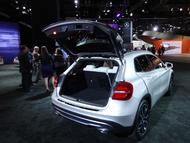 There is a good amount of cargo space in the GLA. Far more than its cousin, the CLA 4-door coupe.