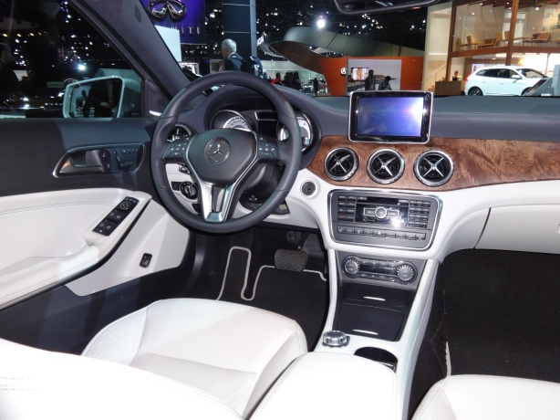 The interior of the 2015 GLA250 is pretty much the same as the CLA.