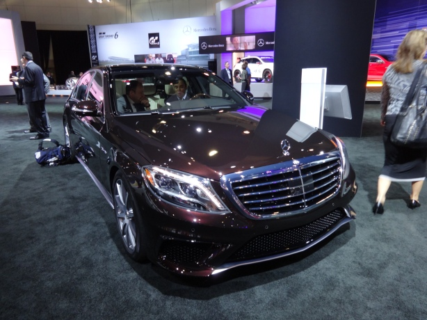 This is the front of the 2014 Mercedes-Benz S63 AMG. Very nice if you can afford it.
