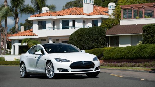 The Model S in White