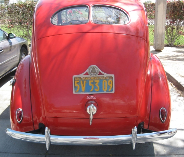 1939 Ford Coupe. Check out the original gold and blue California plate commemorating the 1939 World's Fair!