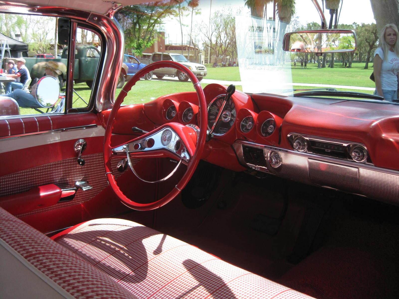 1960 Chevy Impala Red Interior Car Interior Design