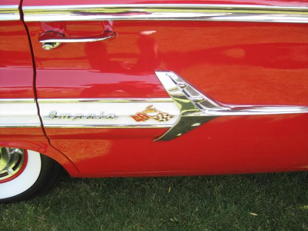 Ah, for the good old Atomic/Jet Age days. I love the Impala logo integrated into a stylized jet.
