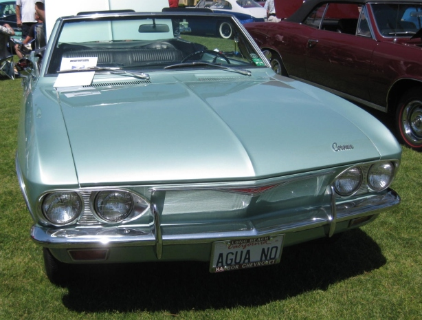 The Gen II Corvair was my favorite body style. This 1966 Convertible looks sharp in aqua.
