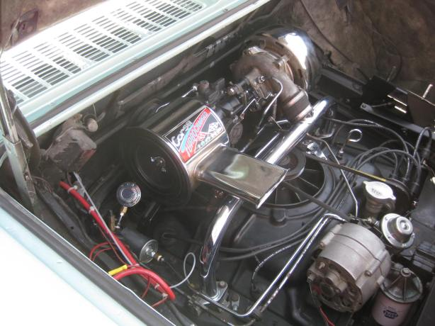 This Corvair has the turbo flat 6 engine making a powerful 180 hp.