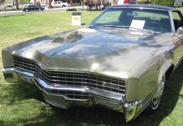 This was one of the most beautiful Cadillacs ever produced (IMHO). This is a 1967 Eldorado.
