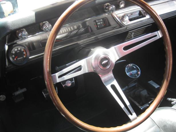 The interior of the 1967 Chevelle Super Sport.