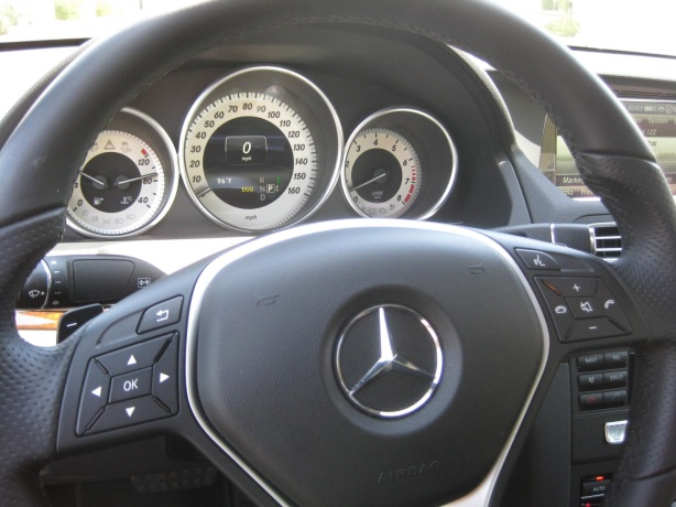 The instrument panel is easy to read. The steering wheel is a first-rate affair.
