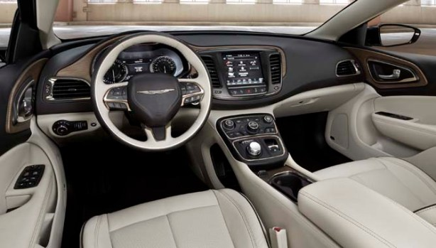 The cockpit of the Chrysler 200 is a nice place to spend time.