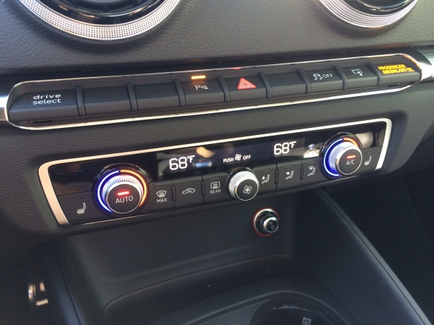 Old-school physical controls and buttons are easy and fast to use.  Dual-zone automatic climate control is standard. Optional heated seats have 3 levels.