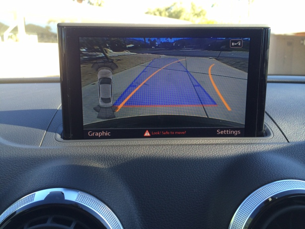 The wide angle backup camera works well, although if you're in a hurry, it takes a couple seconds to pop up and display.