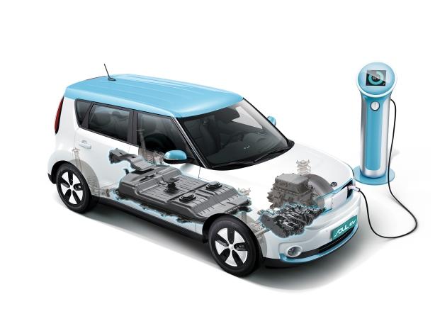 2015 Kia Soul EV cutaway